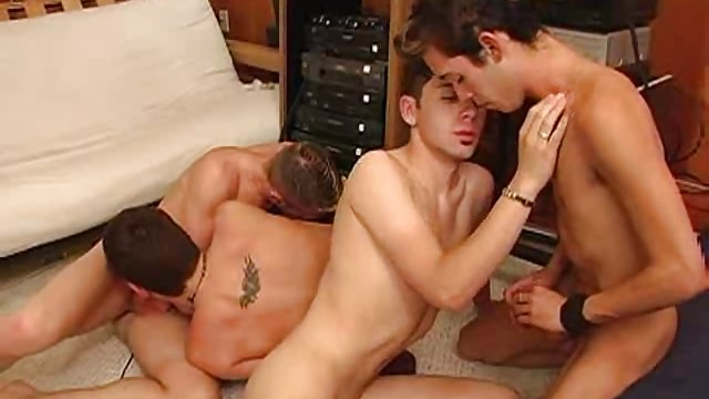 Three Gay Twinks Sucking Cock And Fucking