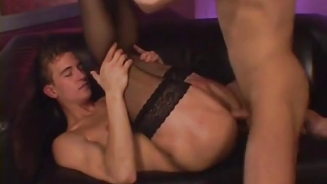 Cute crossdresser gets fucked by hot guy!!!